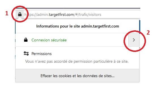 Accès centre de contrôle Firefox